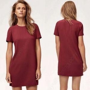 Aritzia Babaton Patricio burgundy dress size 2